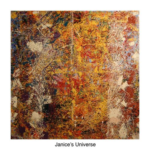 "Janice's Universe/ Collection of the artist 48 x 48"" / 122 x 122 cm"