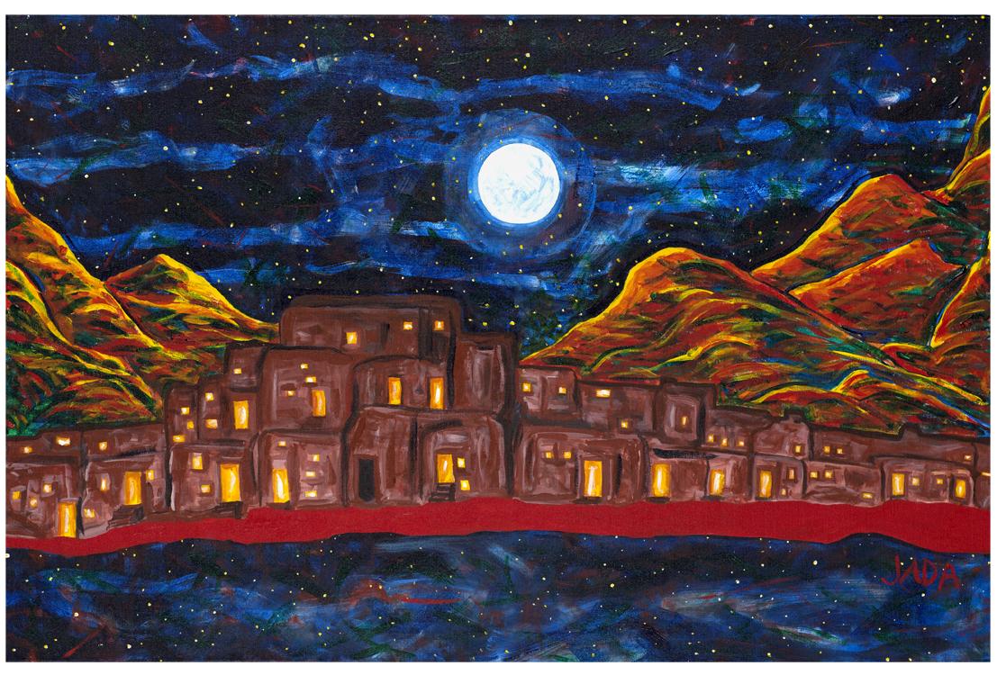 Pueblo Beyond Time 2: acrylic on canvas : 24 x 36 2.jpg