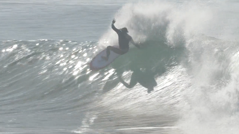 Ellis Ericson with an edgeboard and Power Blade