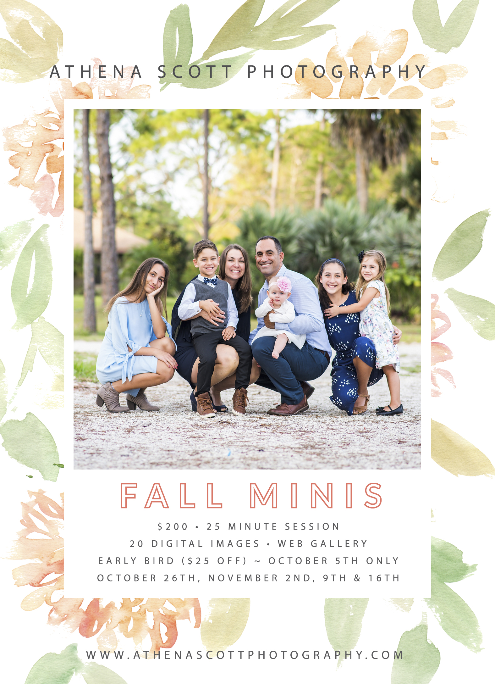 Fall 2019 Holiday mini sessions in Jupiter, Juno Beach and West Palm Beach