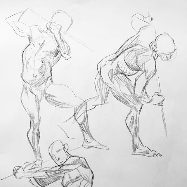 Life draws last night #lifedrawing #model #sketch #sketchbook #art #study #artistsoninstagram