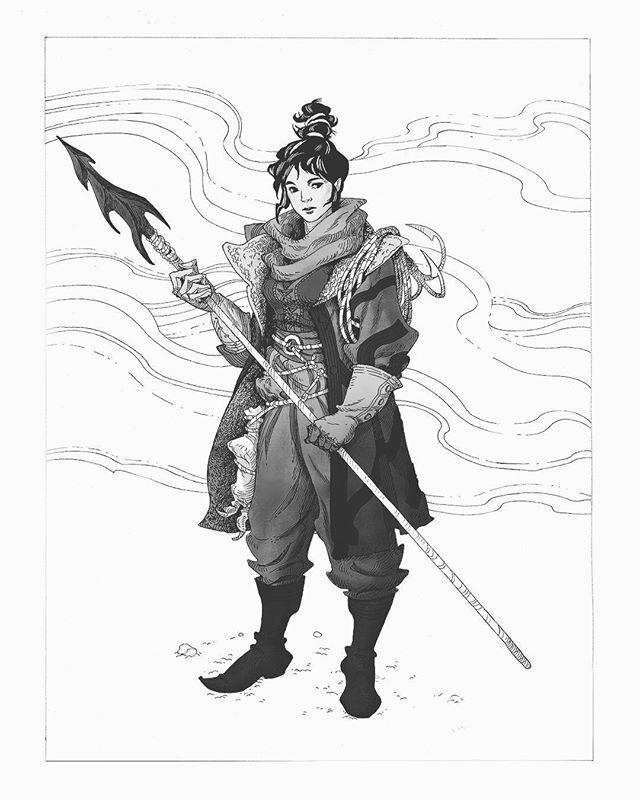 Too far behind now . . . . . . . #inktober #inktober2017 #characterart #characterdesign #illustration #blackandwhite #fantasy
