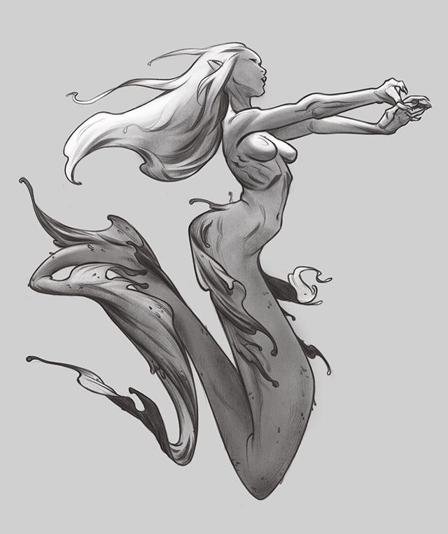 Mermaid mermay #illustration #art #sketch #procreateapp #procreate #fantasy #mermaid #mermay #mermay2017