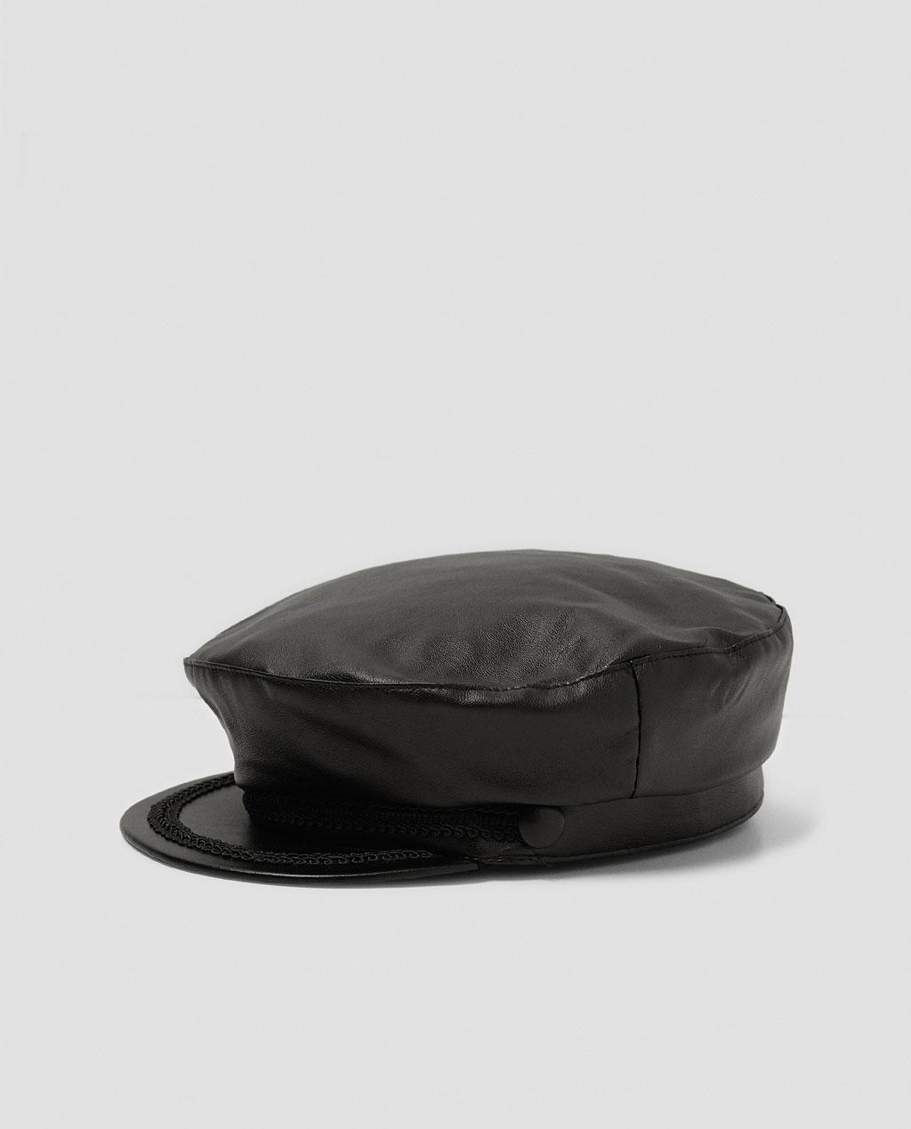 NAUTICAL FAUX LEATHER CAP