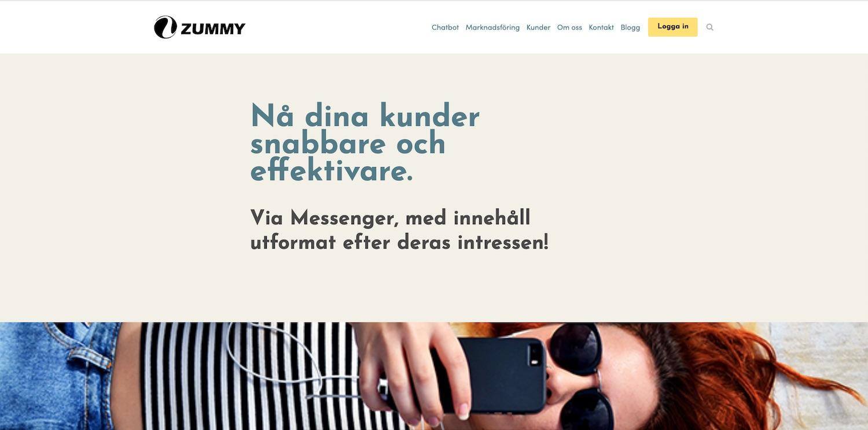 Zummy - Ökade sin trafik med 120%Fick 30% fler förfrågningarAutomatiserad rapportering av siffror