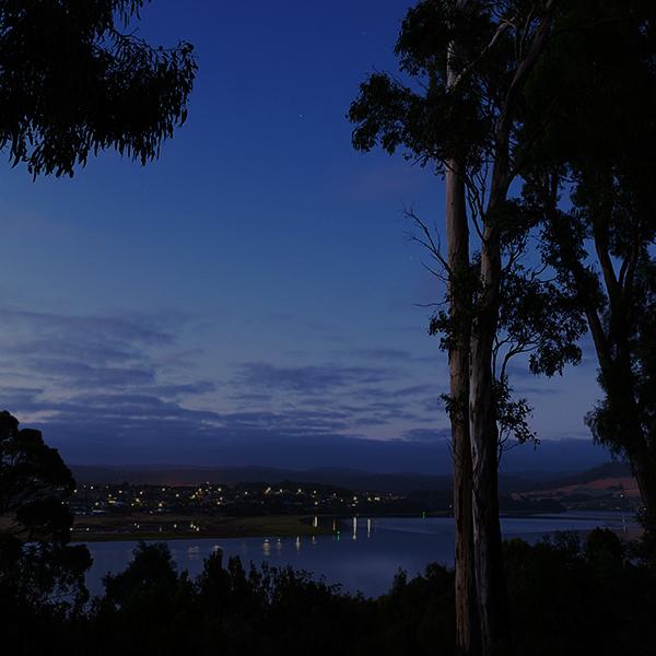 Dusk across the Tamar River