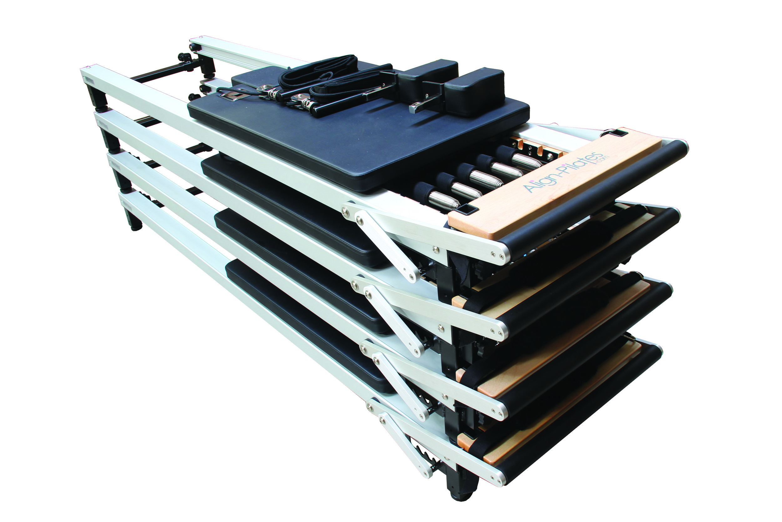 Align C2 Pro Pilates Reformers stacked