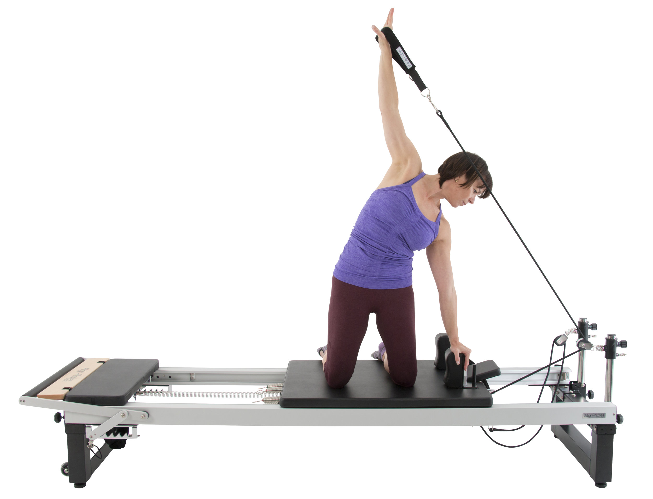 Align A2R2 studio pilates reformer with 43cm extension legs