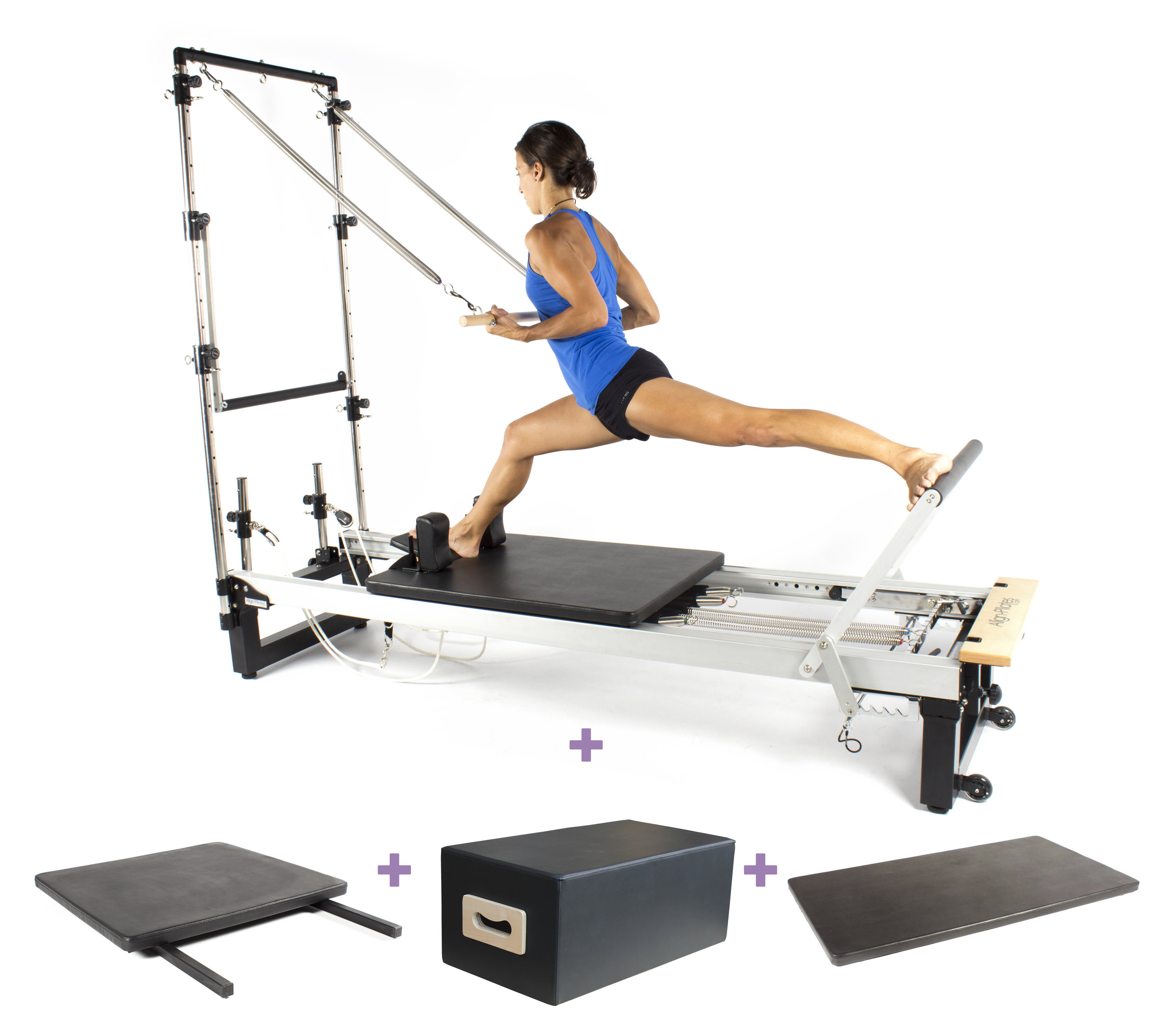 Align A2R2 studio pilates reformer with half trap and bundle options
