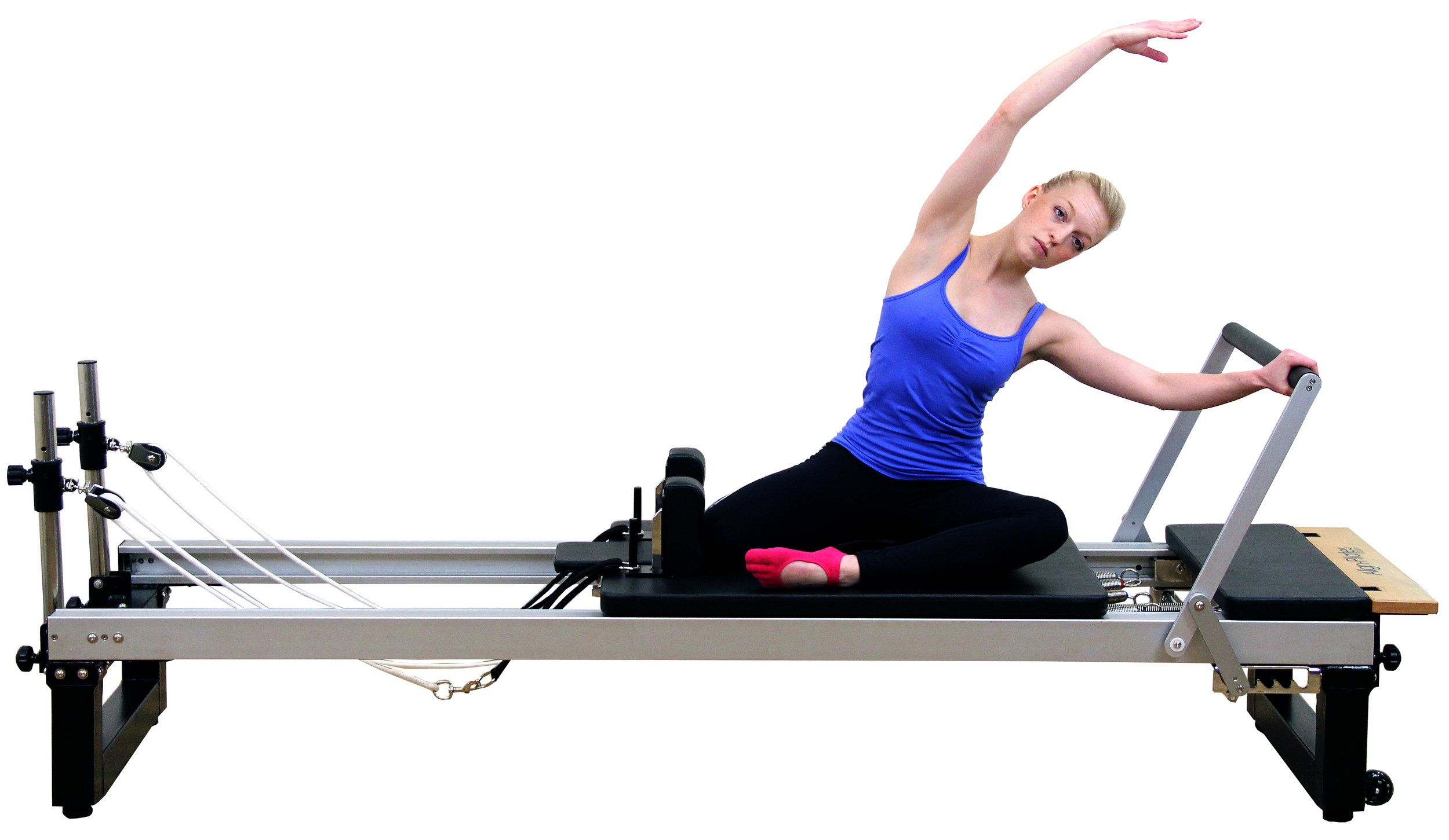 Align A2R2 studio pilates reformer with extension legs and platform extension