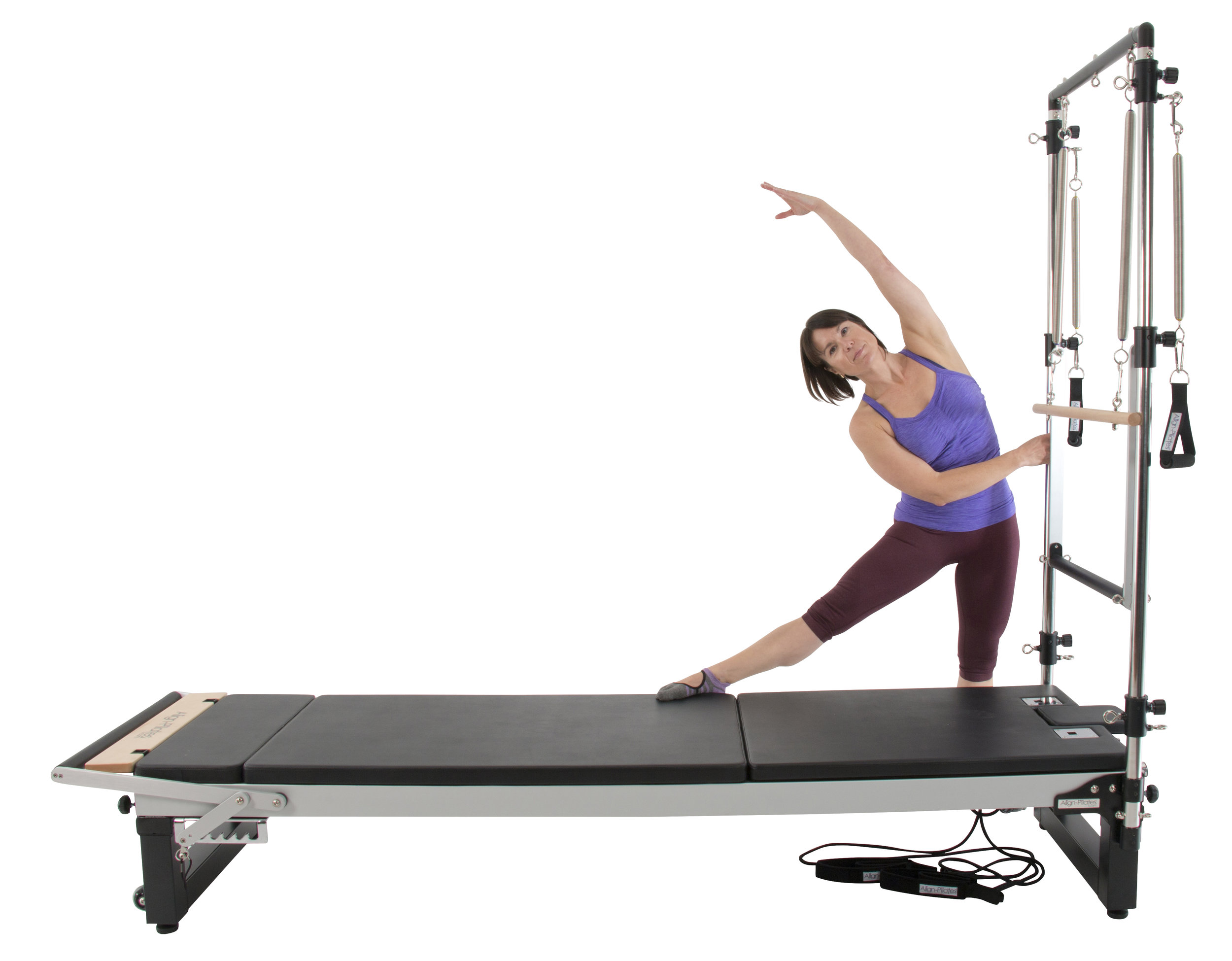 Align A2R2 studio pilates reformer with extension legs and mattress extension