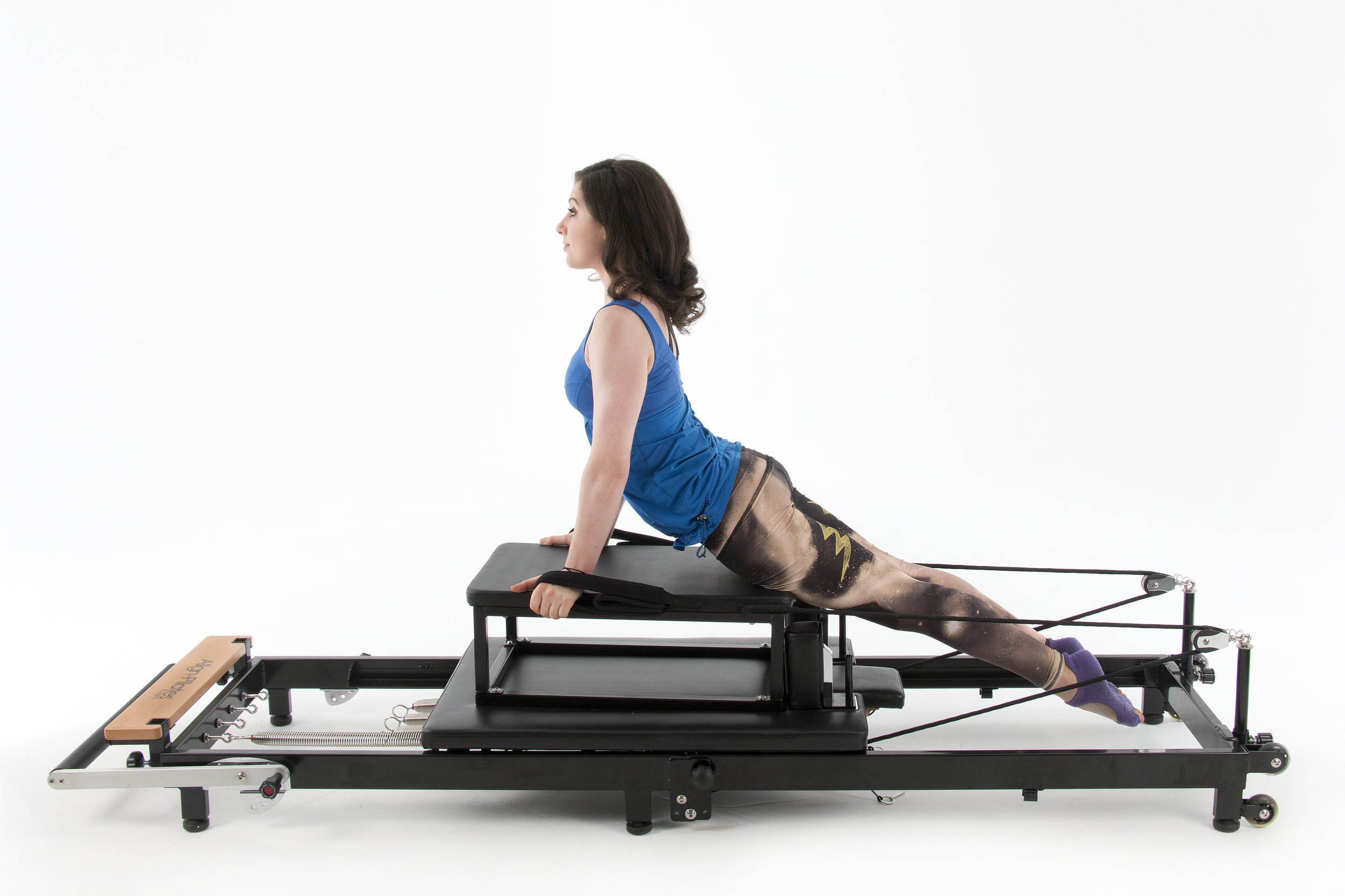 Align F2 home folding pilates reformer with framed sitting box