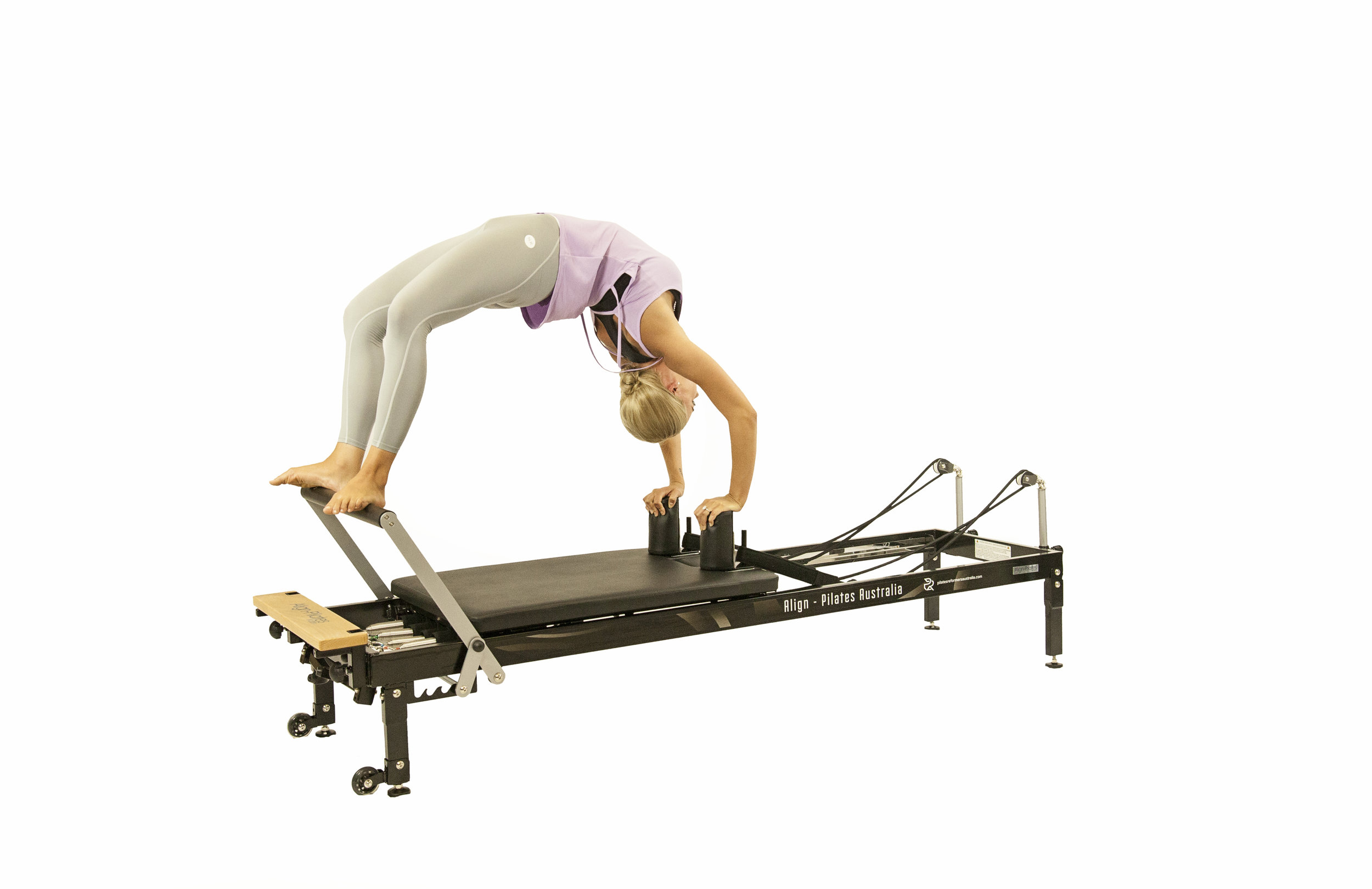 align H1 home pilates reformer with extension legs