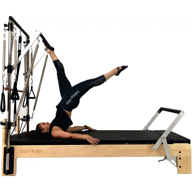 Align M2 Studio Maple Pilates Reformer with half trap