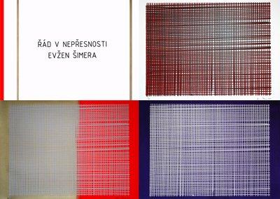 Evžen Šimera, Řád v nepřesnosti, 2011   Autorské portfólio s 3 sítotisky, náklad 25 exemplářů.
