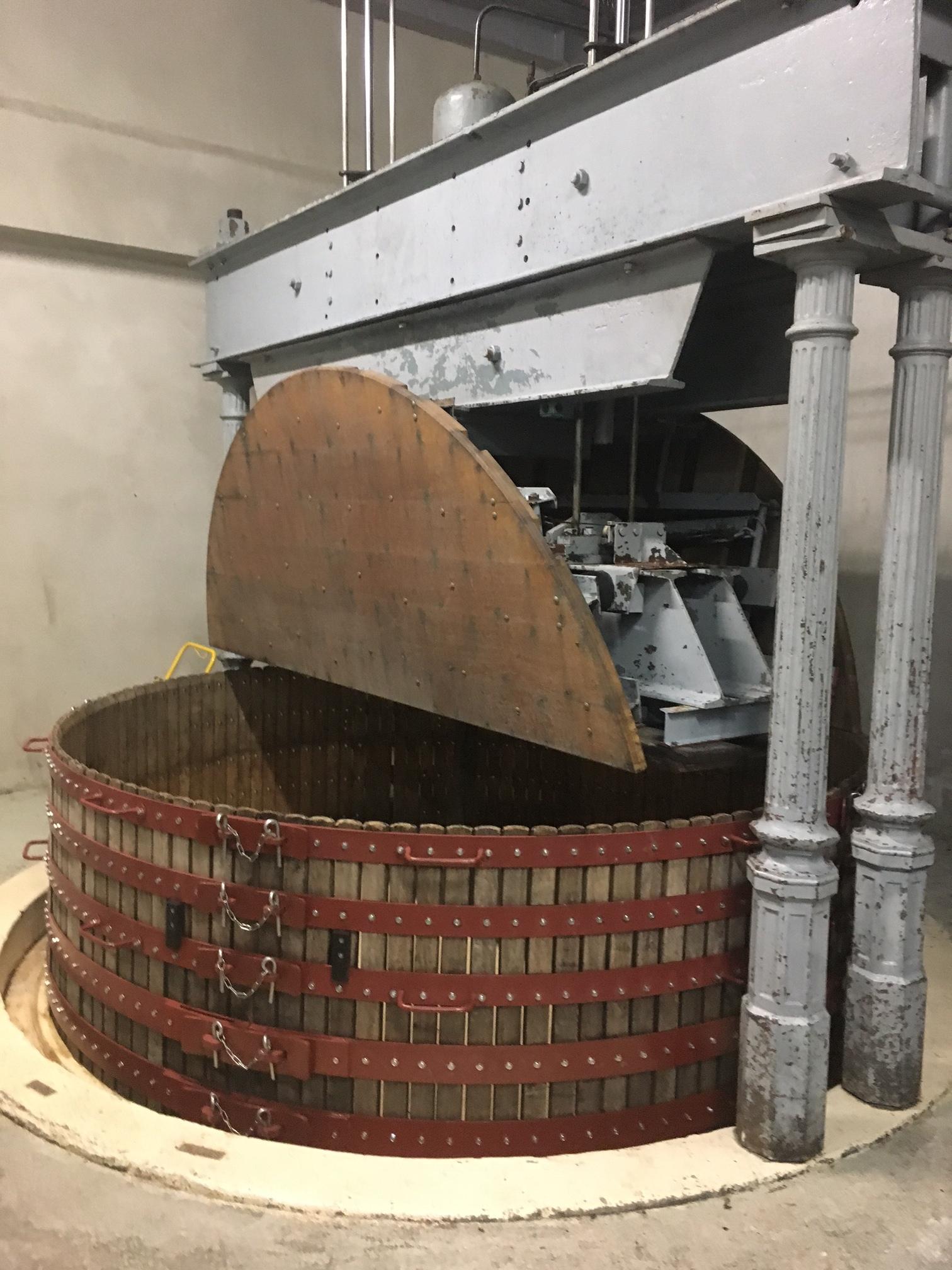 an old 4000 kg Coquard press