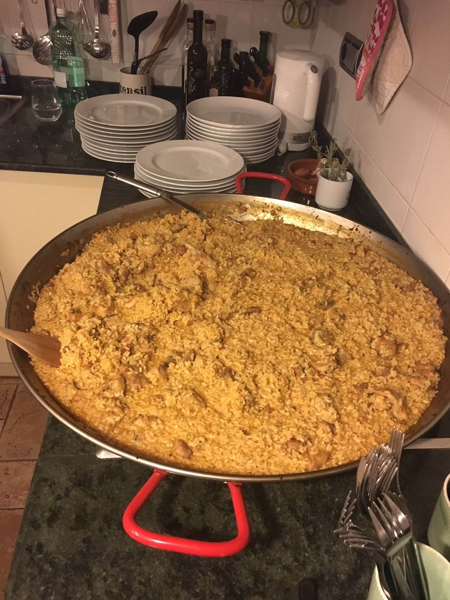 mountain paella: no seafood