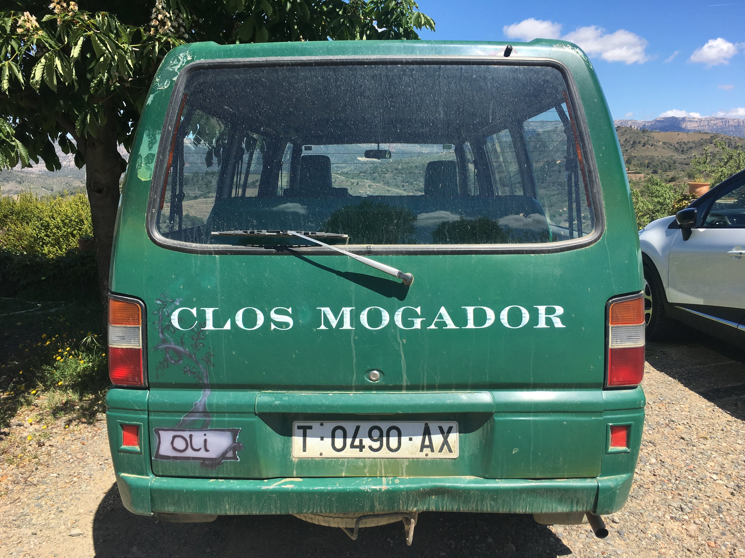 René took us around the vineyards in an old family van