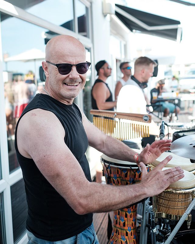 Had the absolute pleasure of meeting @johnspencerpercussionist at the Ibiza Pool Party this week, too guy and amazing percussion skills 🎵 🥁 💕