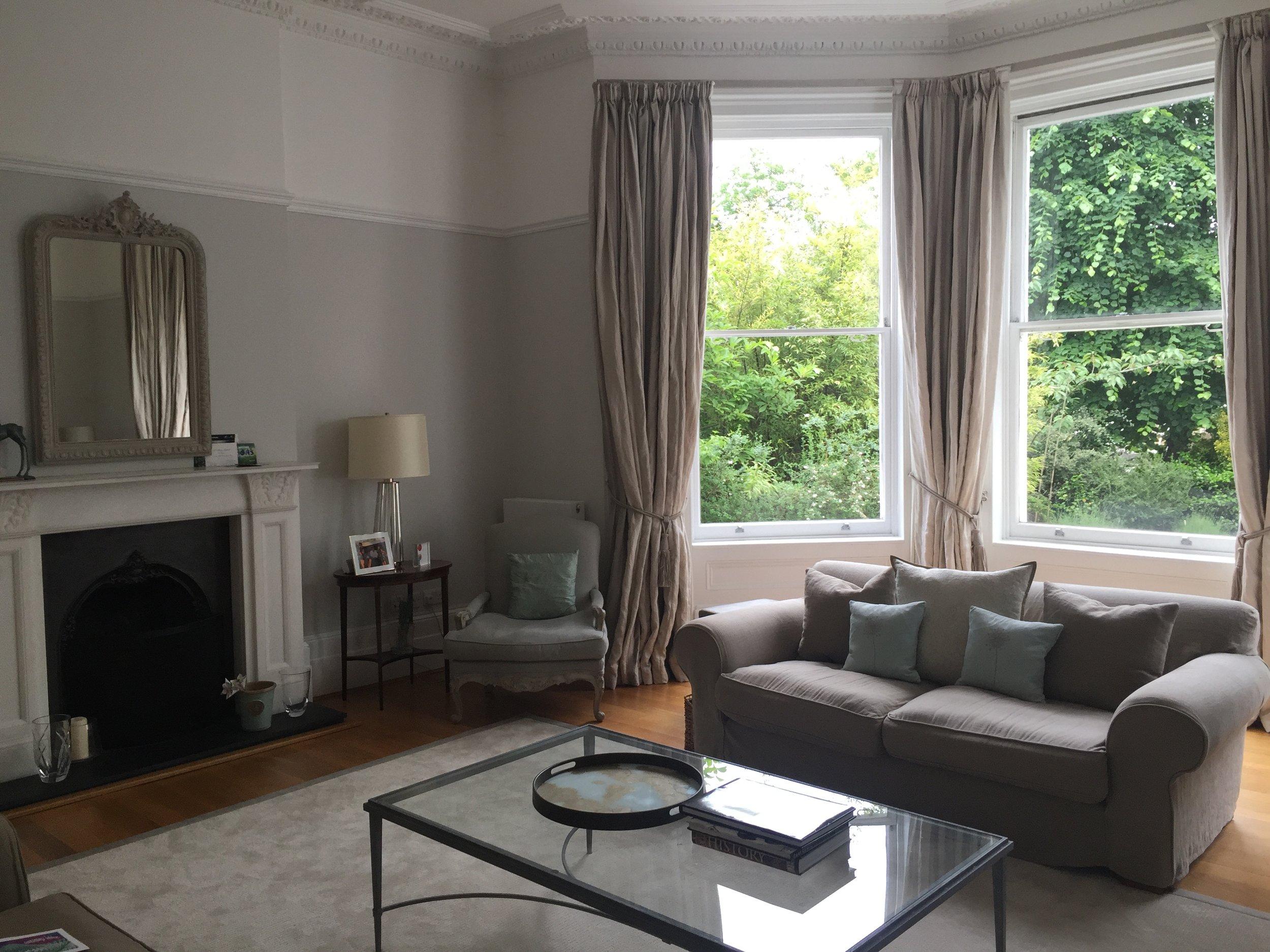 Cator Estate  interior design project: formal sitting room lighting design