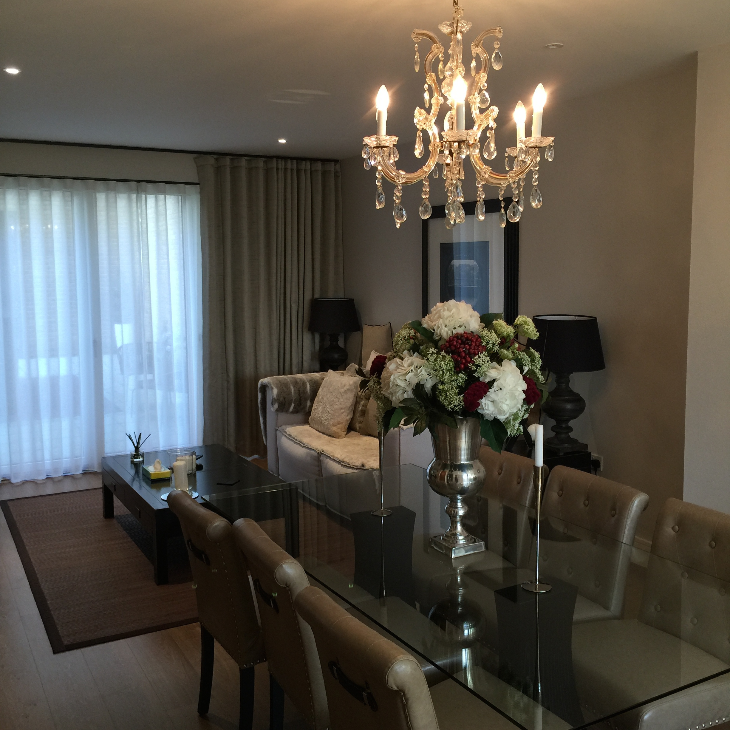 interior design project with the Marie Therese chandelier.