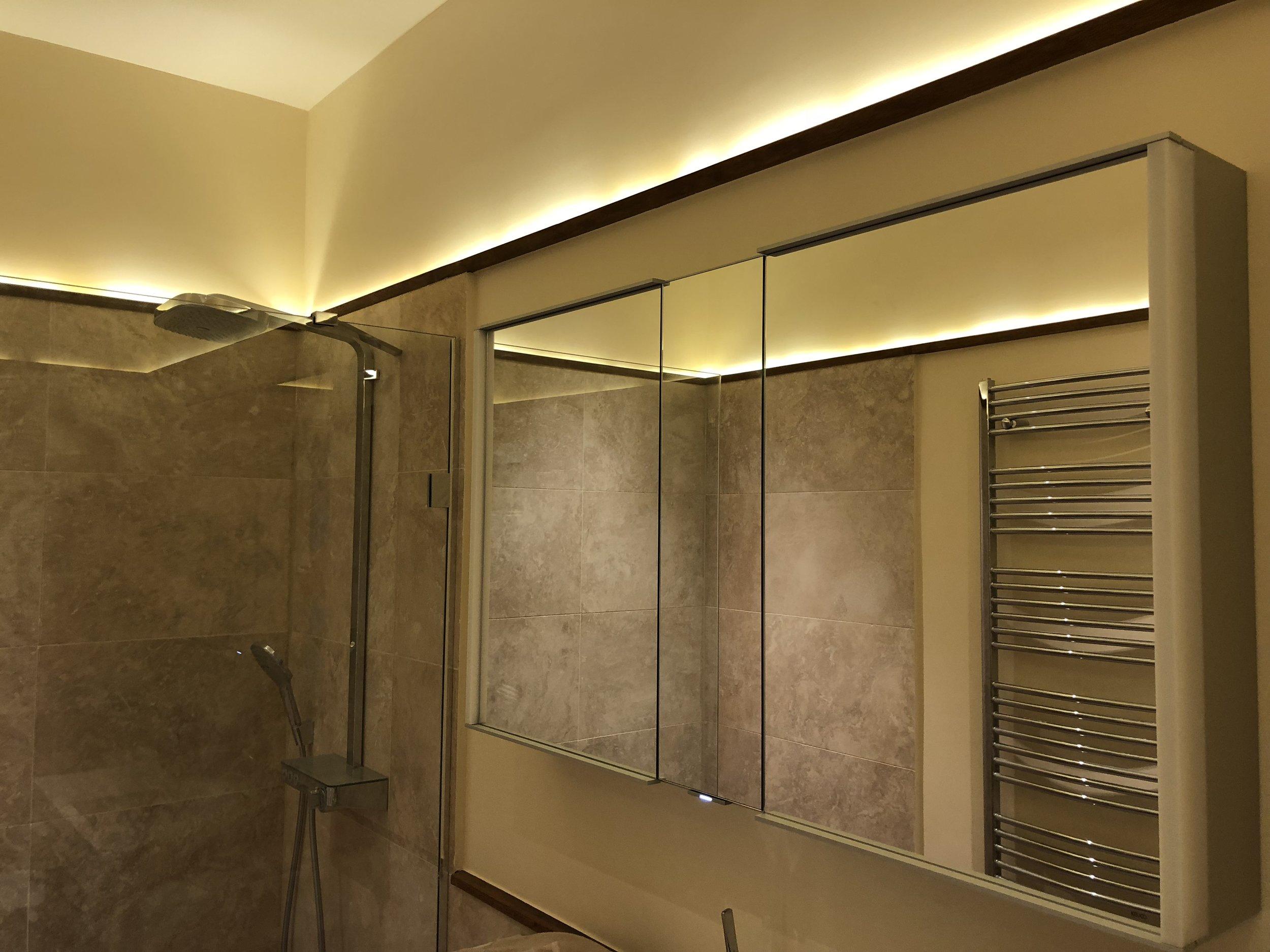Bathroom lighting design.