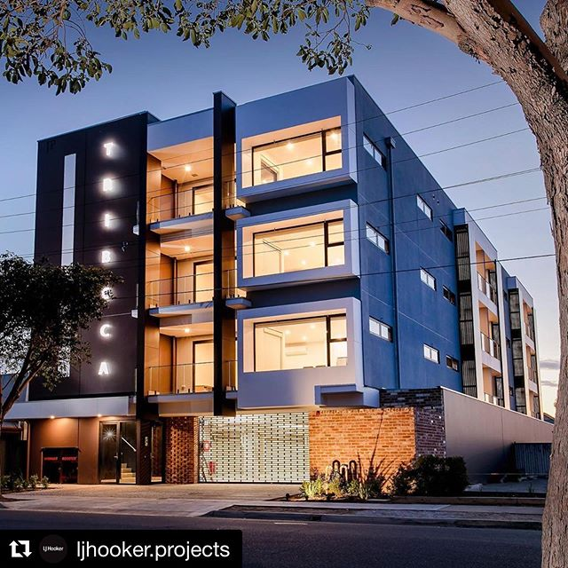 Project complete   Tribeca Apartments in Torrensville - 15 apartments over 4 levels with ground floor car parking 😄 get in touch with @ljhooker.projects if you want to make one of the last available apartments yours #bfconstructions #newhomes #apartmentlife