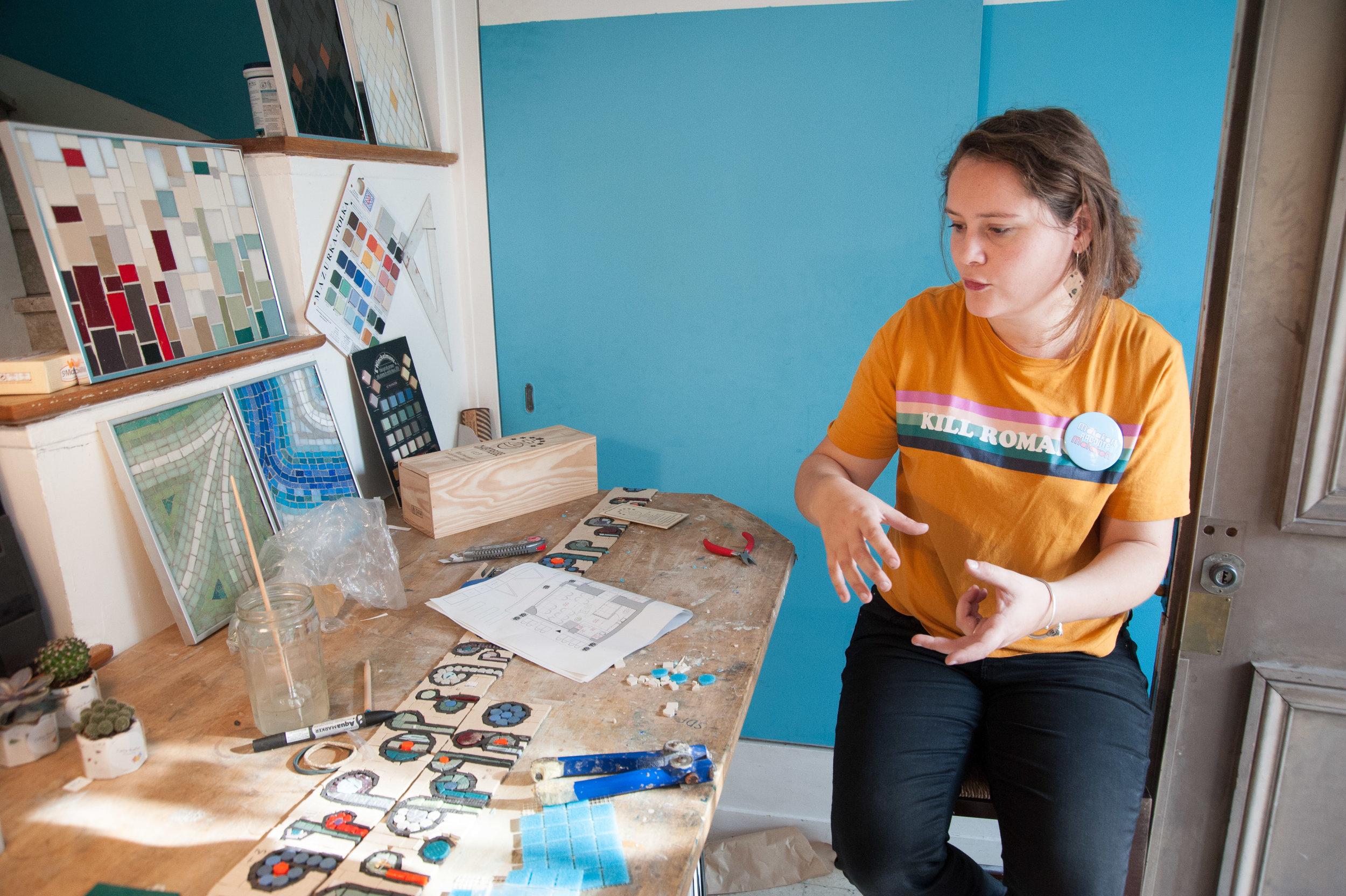 Célia est une artisane convaincue et créative, elle est venue raconter son cheminement dans La Vraie Dose 64