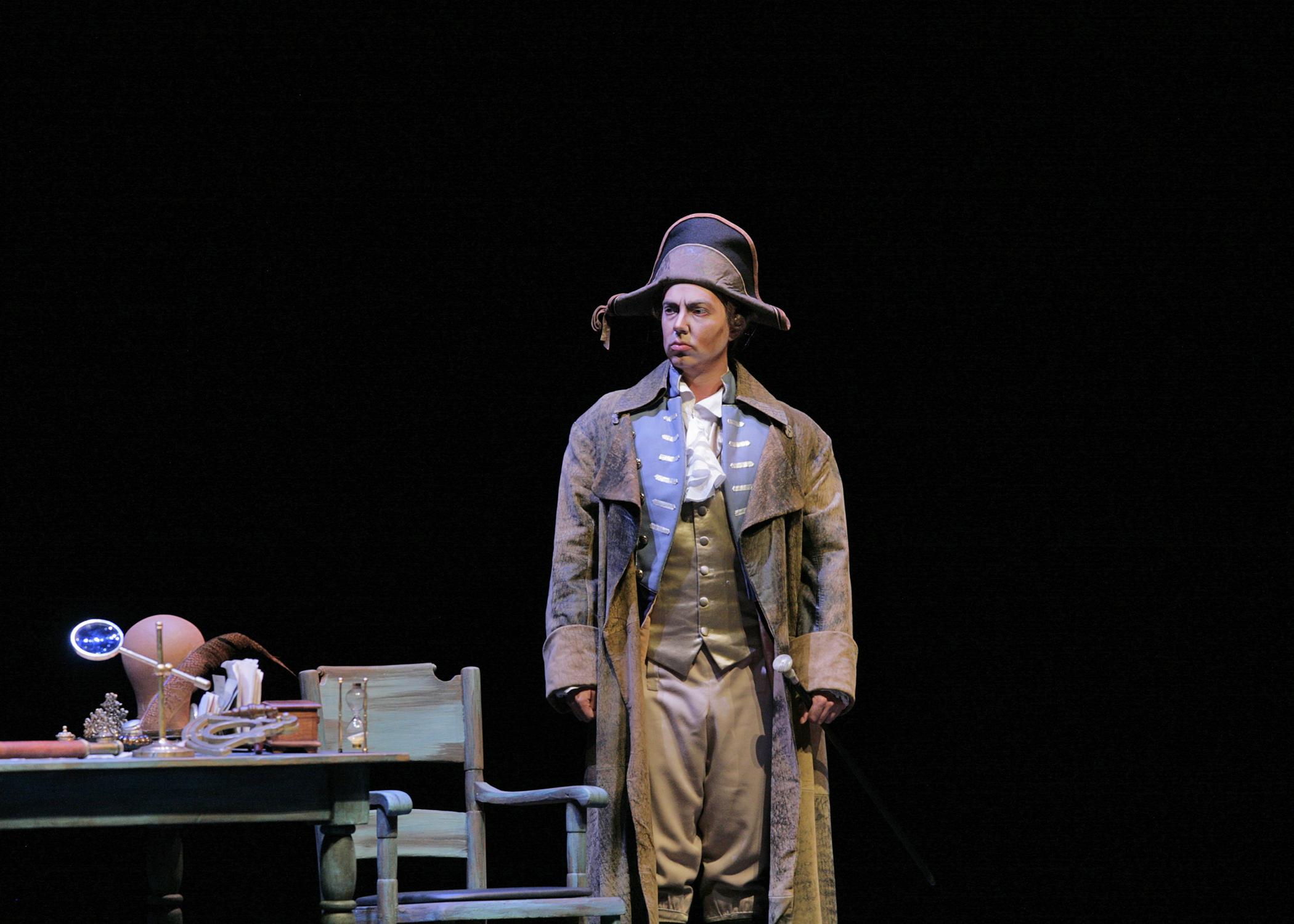 David Salsbery Fry as John Claggart in Britten's  Billy Budd  for The Santa Fe Opera Apprentice Showcase Scenes. Photo © Ken Howard.
