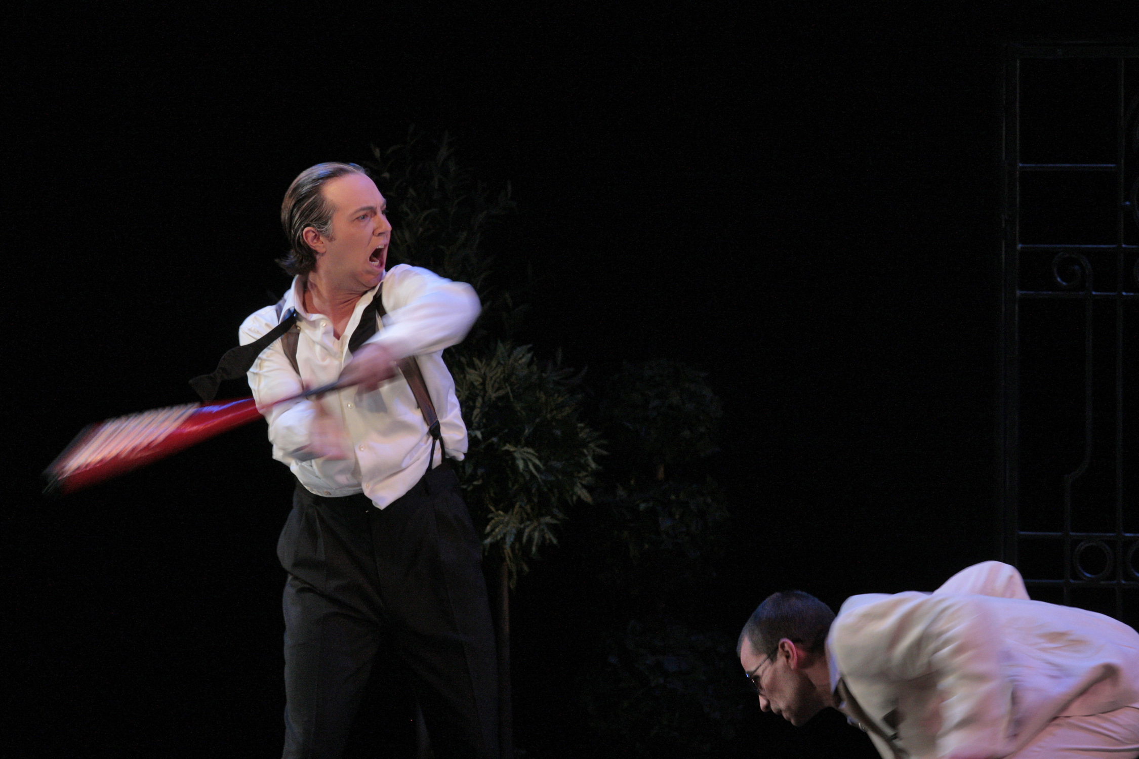 David Salsbery Fry as Il Commendatore and Kelly Markgraf as the title role in Mozart's  Don Giovanni  for The Santa Fe Opera Apprentice Showcase Scenes. Photo © Ken Howard.