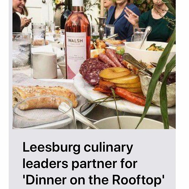 @ltmnews article on #dinnerontherooftop #cantwait #loveloudoun #downtownleesburg #getyourticketsnow