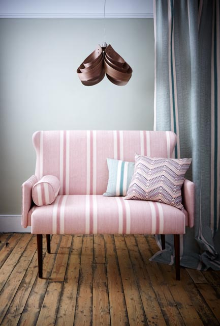 Windley Sofa in Ipala Rosa, with Amates Brocade Cushion in Chalked - A Rum Fellow.jpg