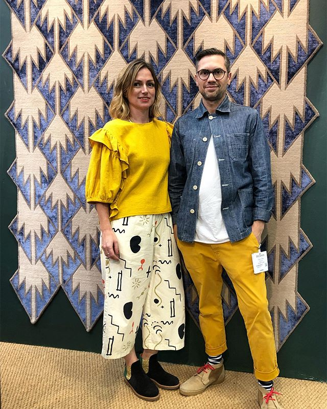 Last day of @decorex_international come see our new design including the Pumori Rug 🔹 . (it's yellow day btw 😉)