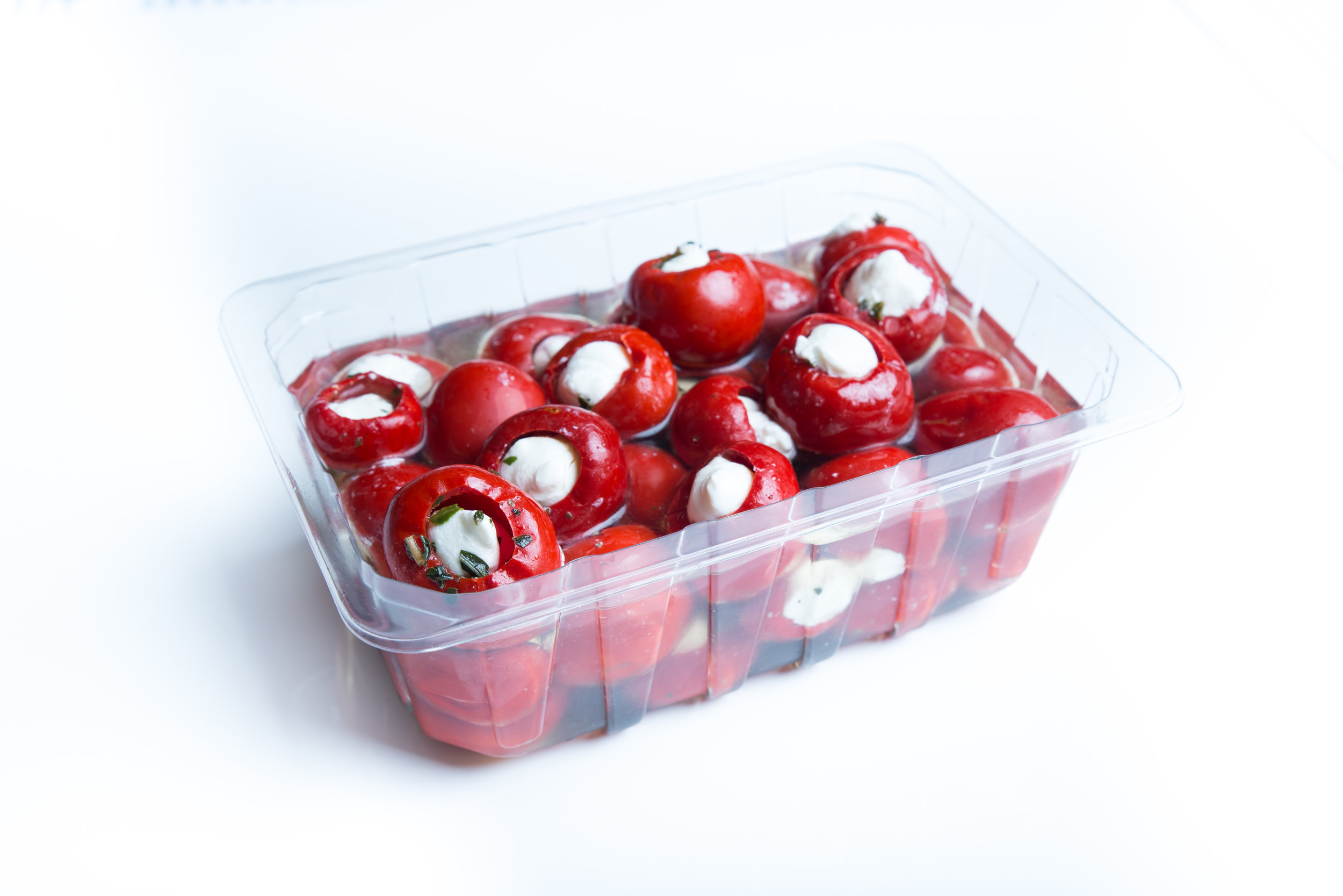 Marinated goat cheese peppers