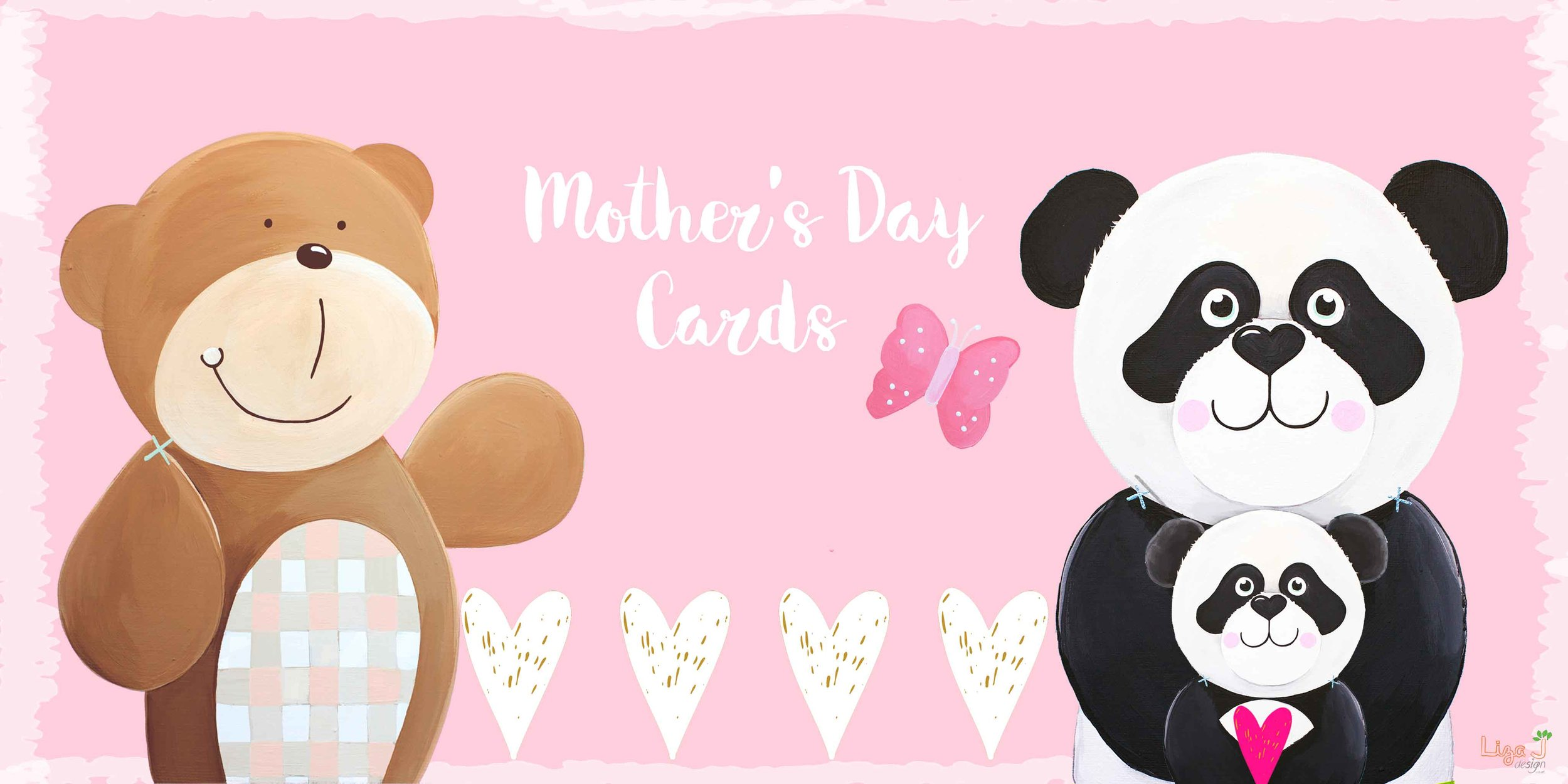 Mother's Day Card Shop Open - From Bears to Pandas explore our characters in the Mother's Day Card range, perfect for a first Mother's day, dog mummies and grandparents.