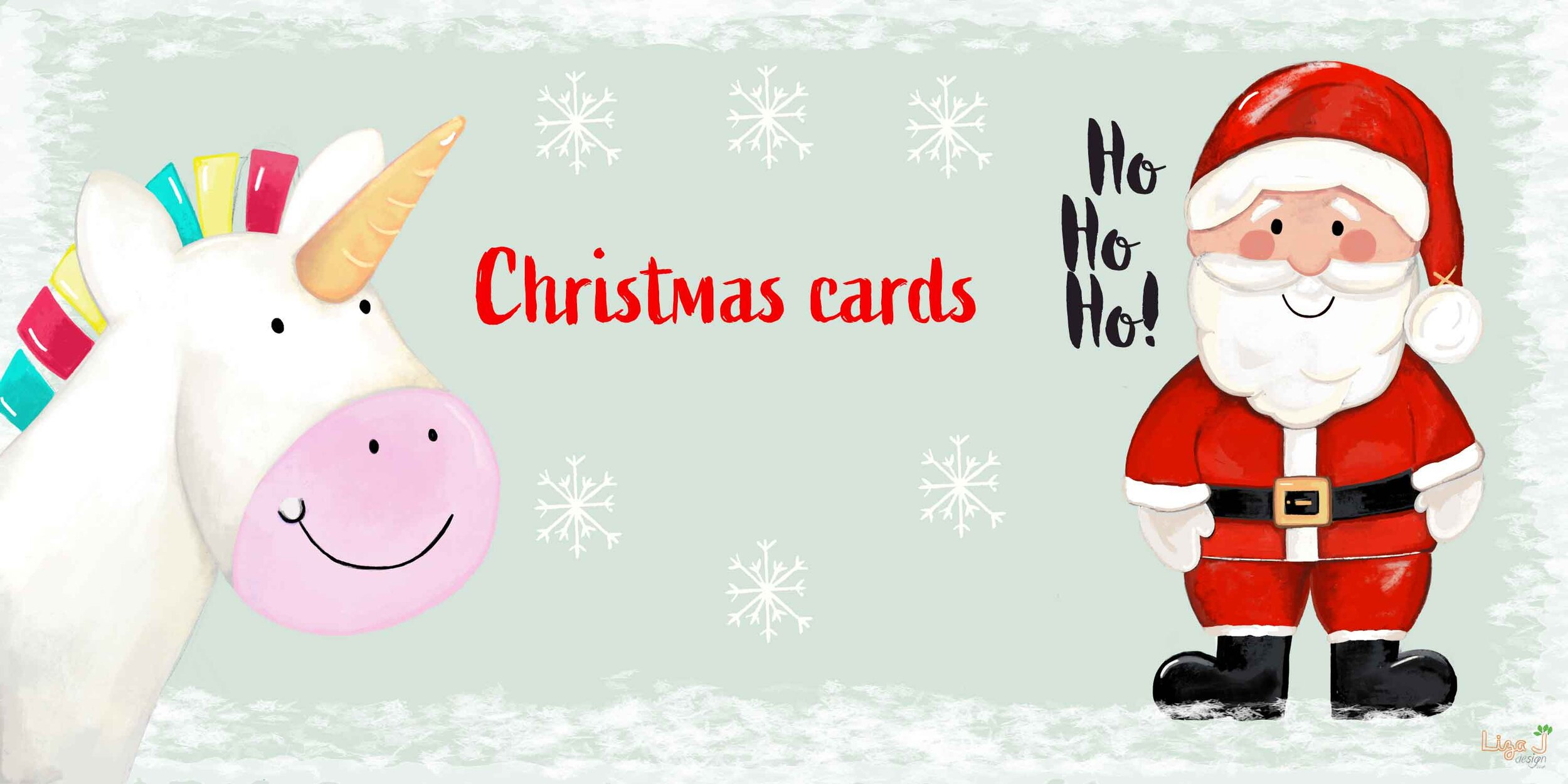 Christmas Cards - Personalised Christmas cards for all the family.Cute cheerful designs from Santas to unicorns.Shop online for FREE delivery.
