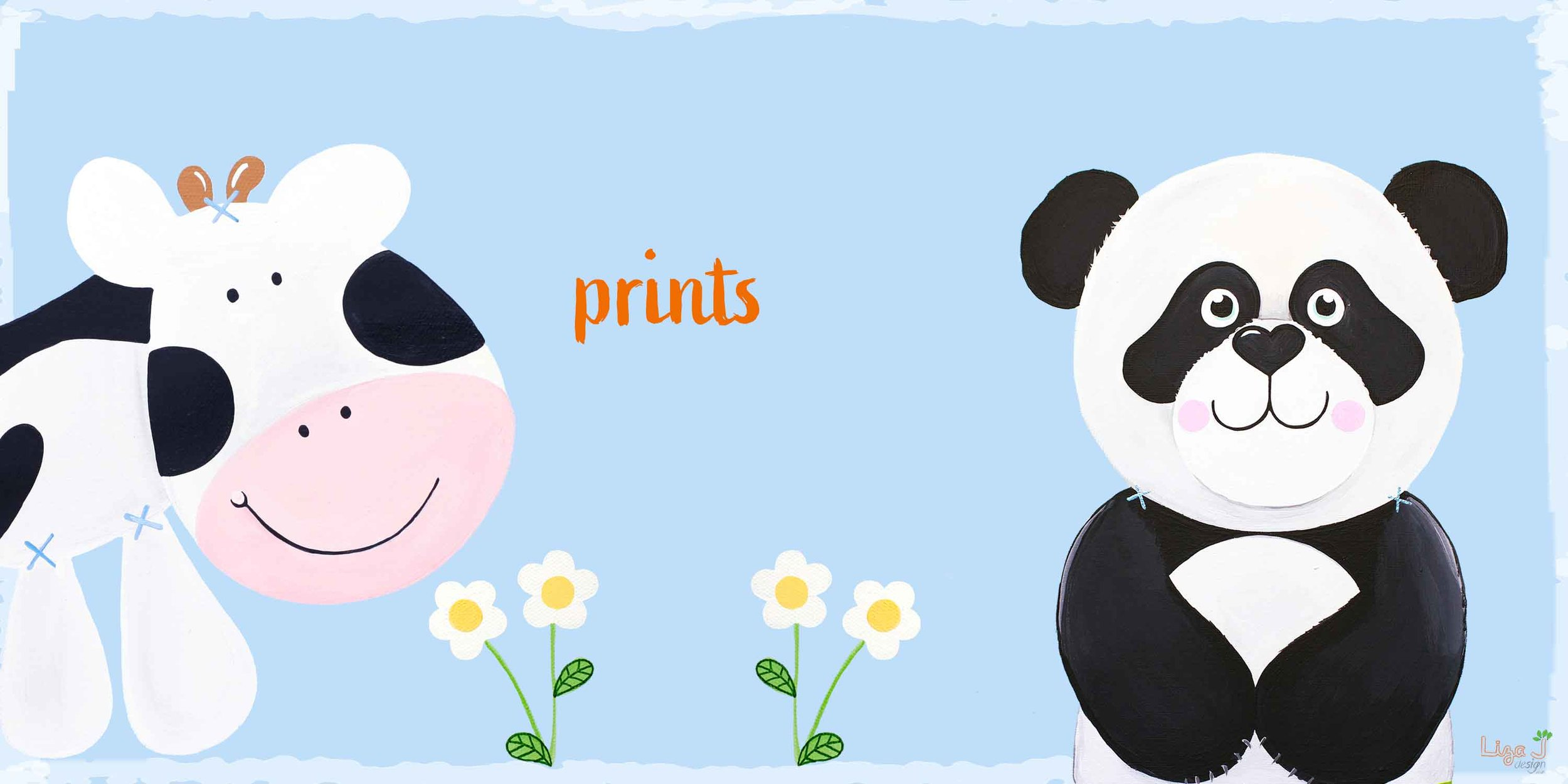 - From cows to pandas explore our characters in the personalised prints collection.Perfect for a new baby, Christmas or Birthday gift.New Collection, more designs coming soon.