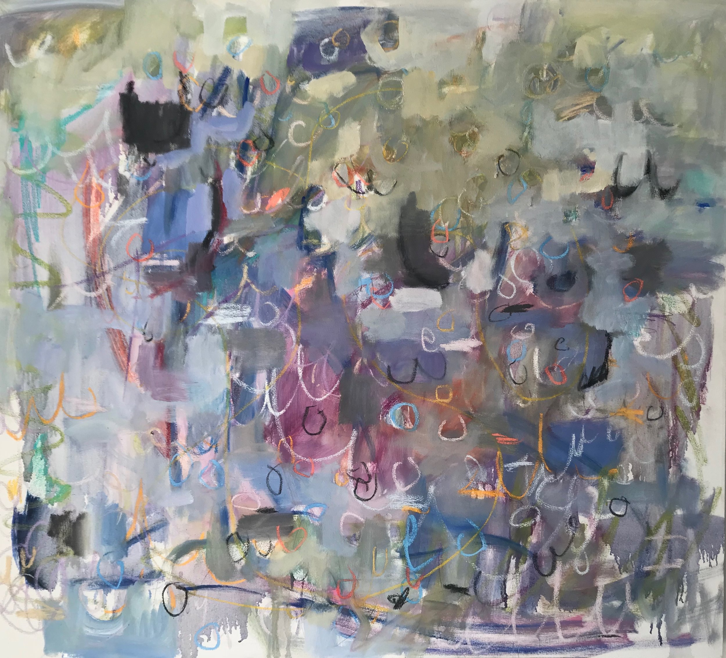 """Linc Thelen -http://lincthelenart.com/  The painting is approximately 48"""" x 48""""."""