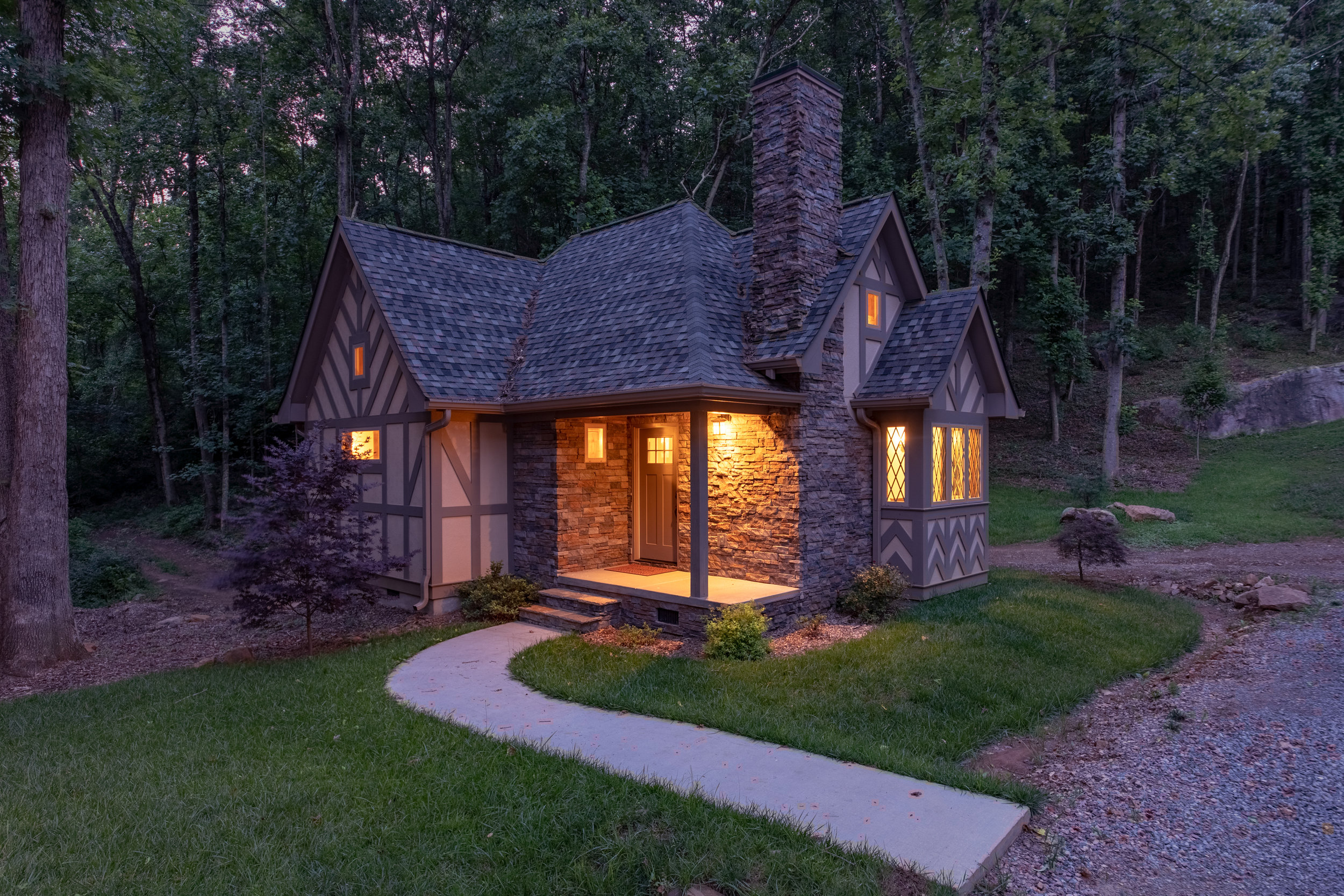 Cottages surround The Green and are warm, inviting and cozy. Available for nightly rentals  Photo:  Tretheway Media