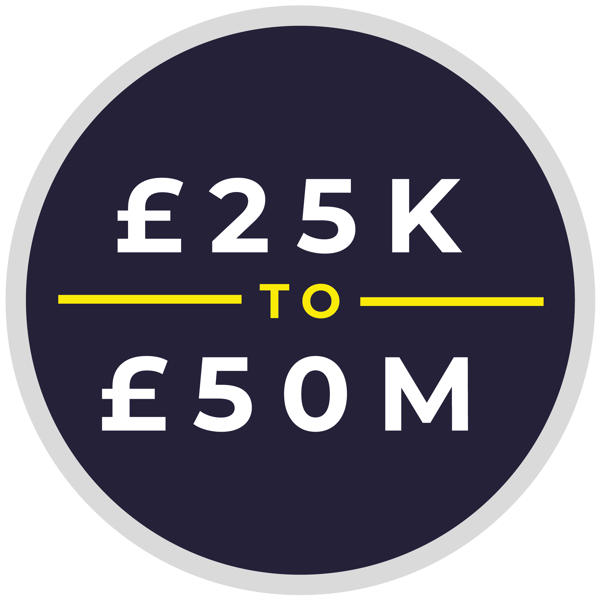 £25k to £50m