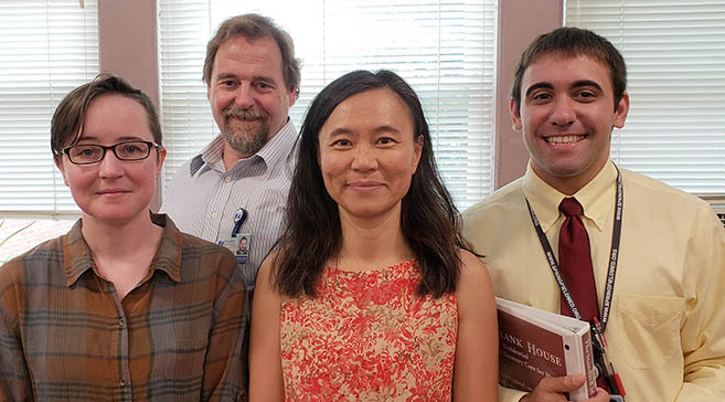 Lindsy Mack, Behavioral Health & Substance Abuse Care Coordinator; Jim Walsh, PMH-NP, BC, Psychiatric Services; Ji Chen, Pharm.D., MHA, Director of Pharmacy Services; Michael Smith, Pharm.D.