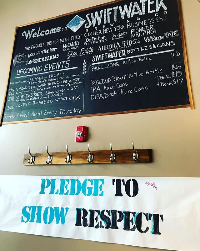 We're at @swiftwaterbeer from 4pm-8pm Today for pledges and t-shirt give away! Come out of the cold and join us for $1 off drafts. #respect #rocrespect #endtheword #endtherword #pledgerespect