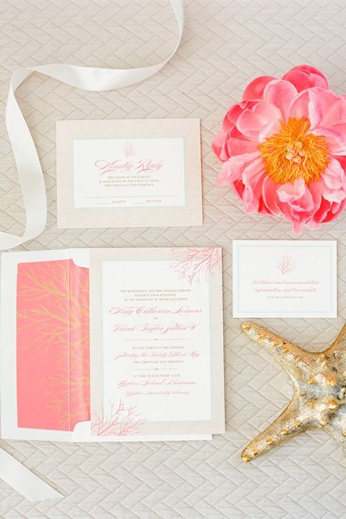 It's All In The Detail - It is subtle perfection to include the Pantone color of the year into your invitations, and we love it!