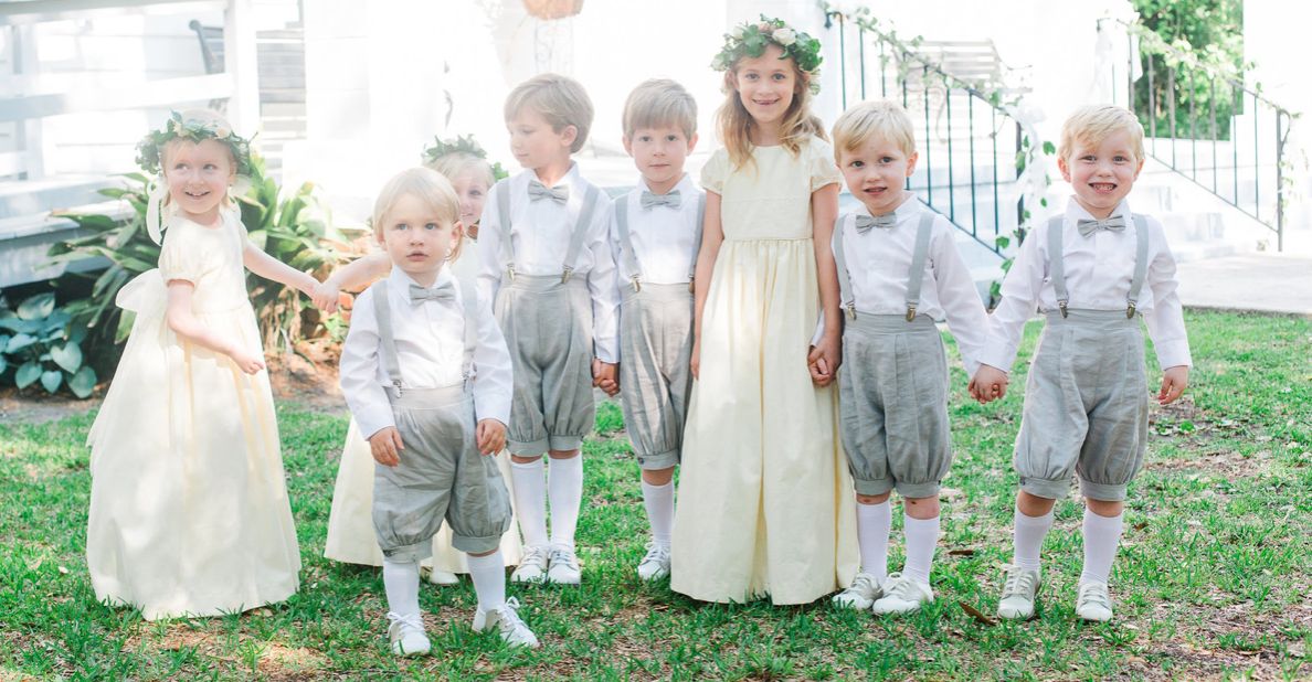 Children do not have to be a part of the day - As cute as they are, do not feel pressured to add children to your ceremony if you don't feel comfortable having them there!