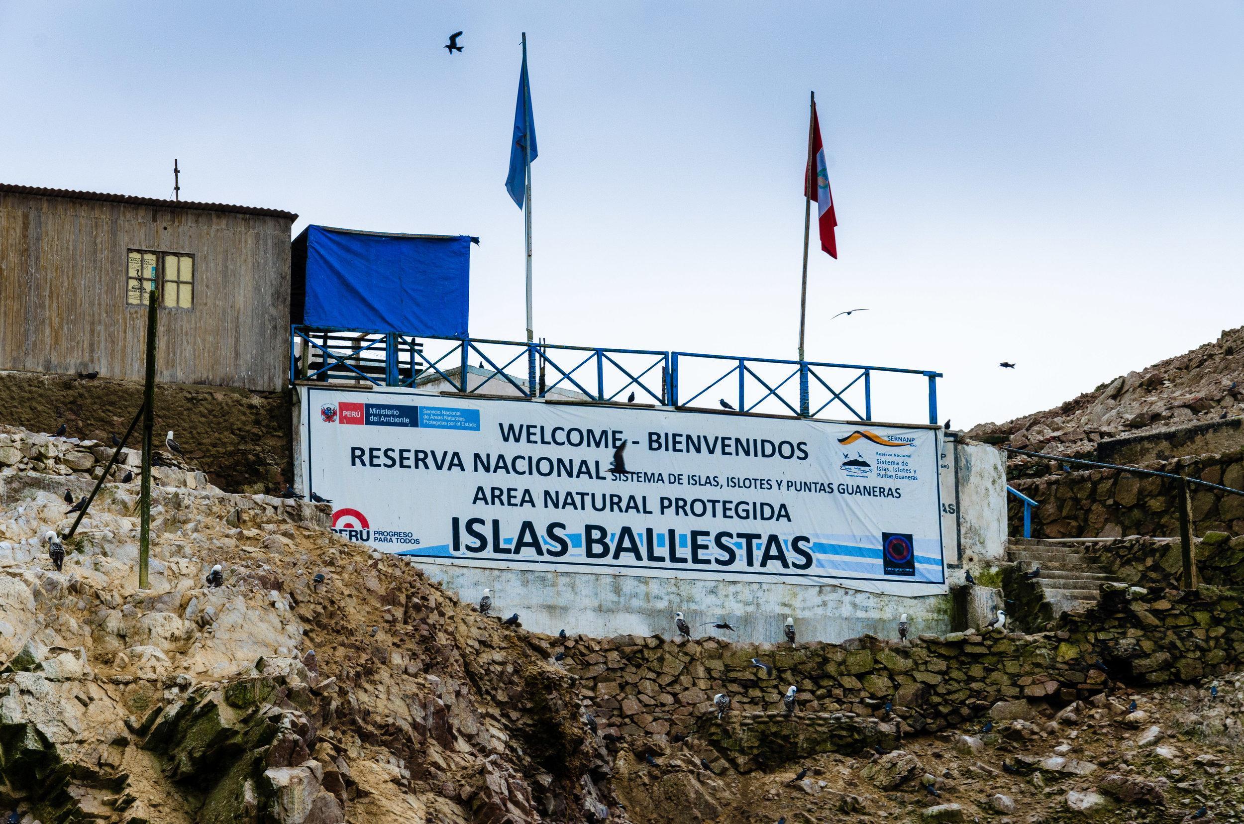 Islas Ballestas Sign Digital Photograph © 2015 SuZan Alexander
