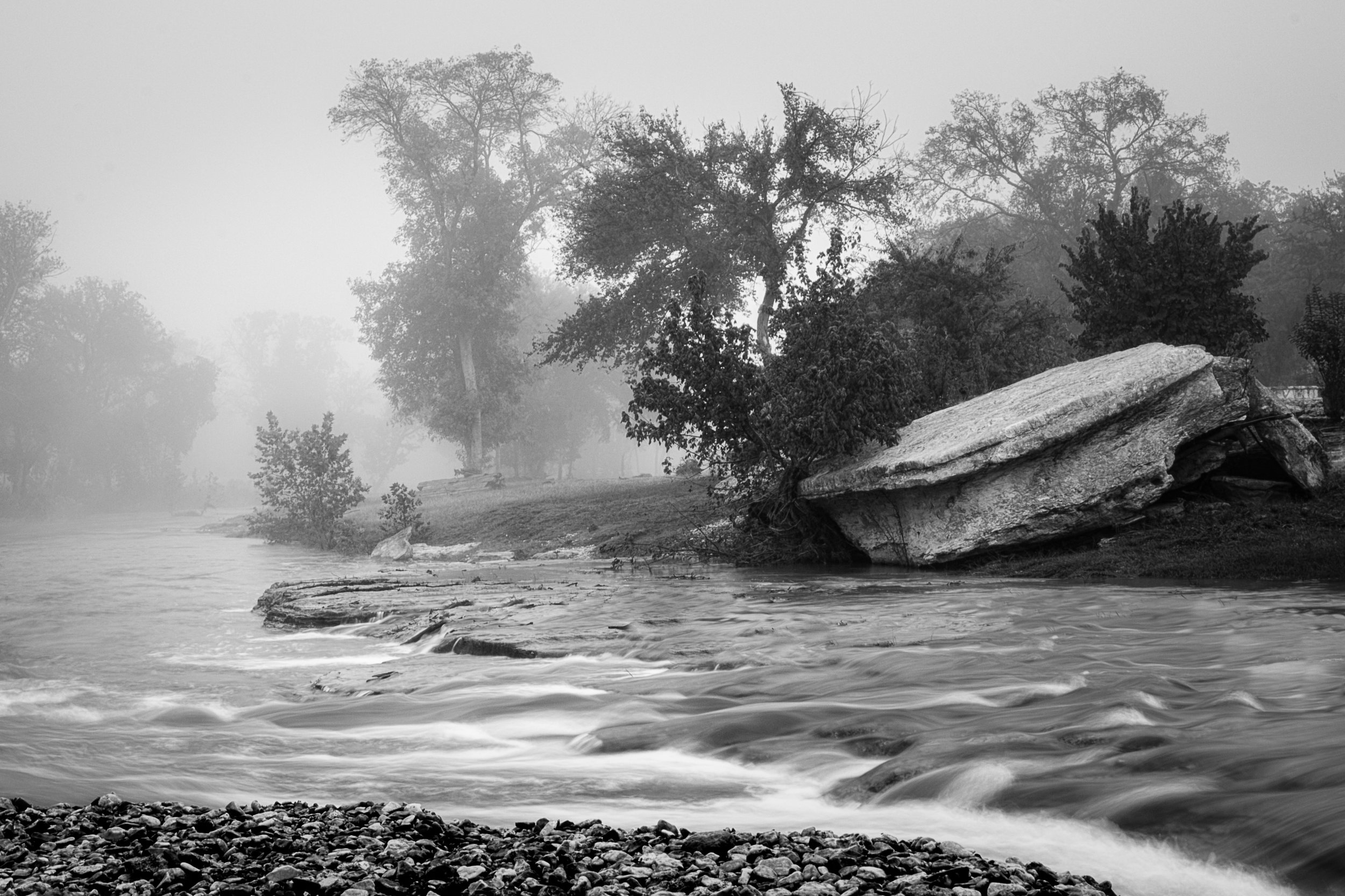 New Season Fog, Digital Photography, Copyright © 2015