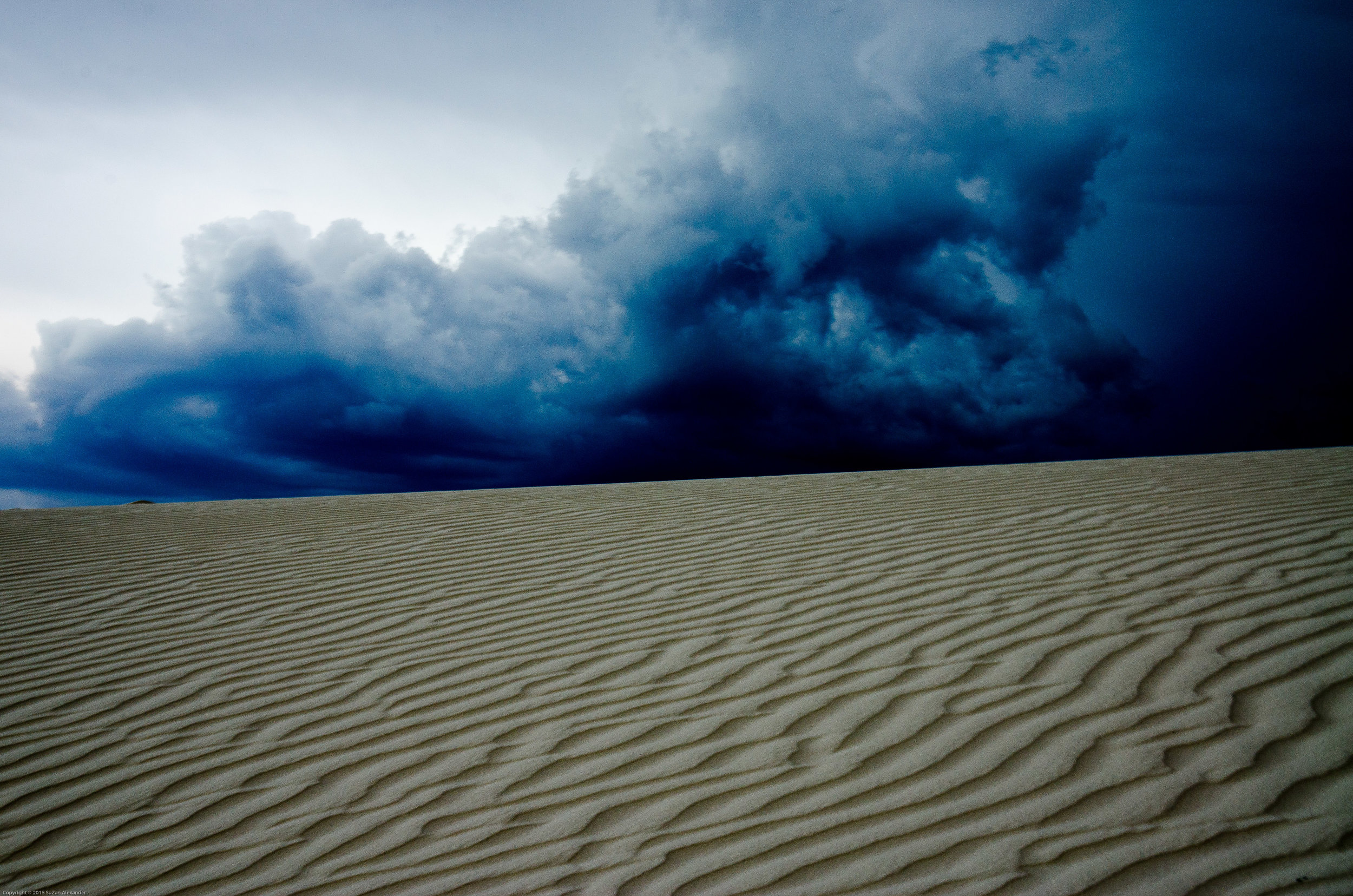 White Sands Storm on Horizon , Digital Photography © 2015 SuZan Alexander