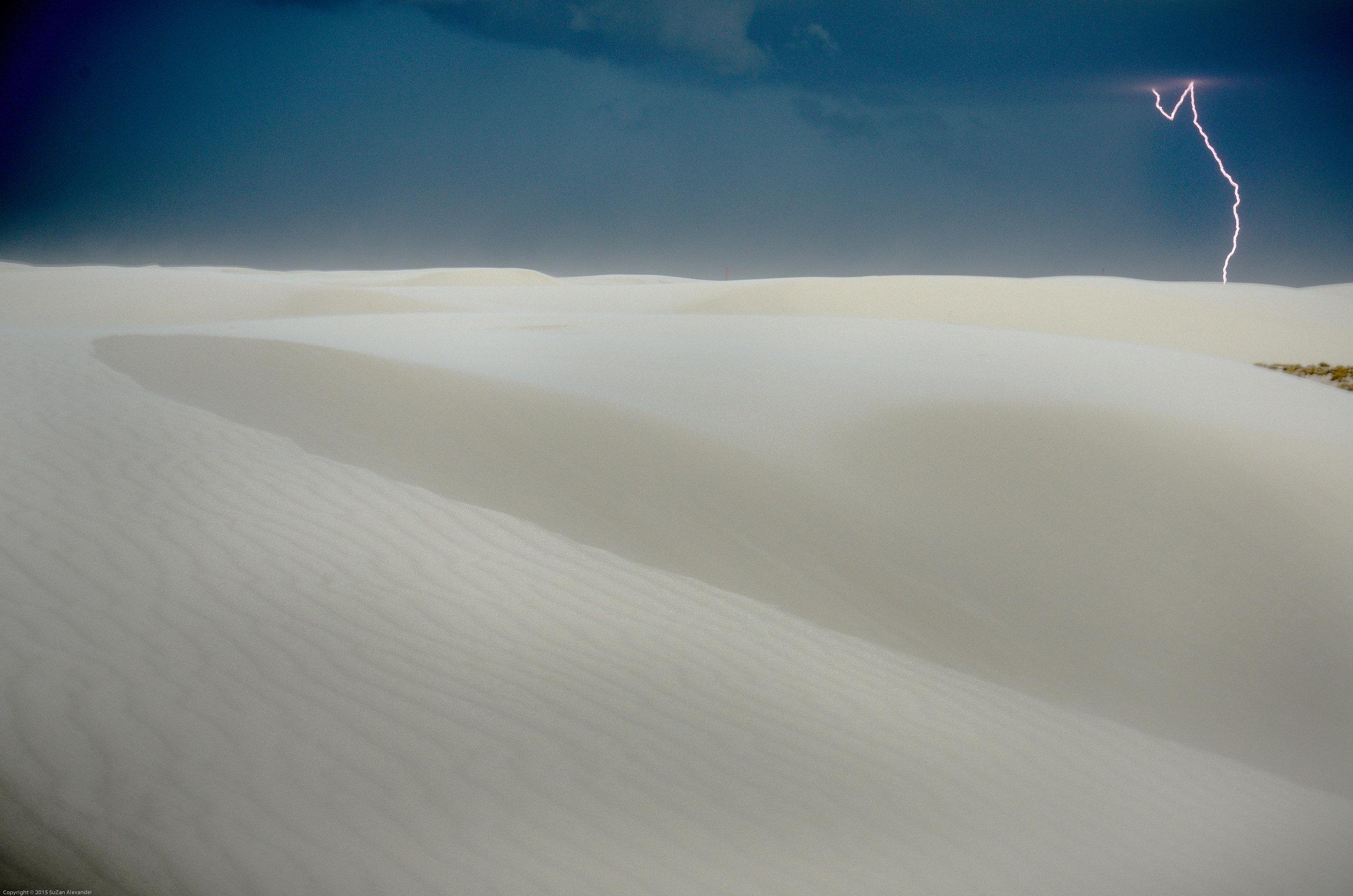 White Sands Lightning on Horizon , Digital Photography © 2015 SuZan Alexander