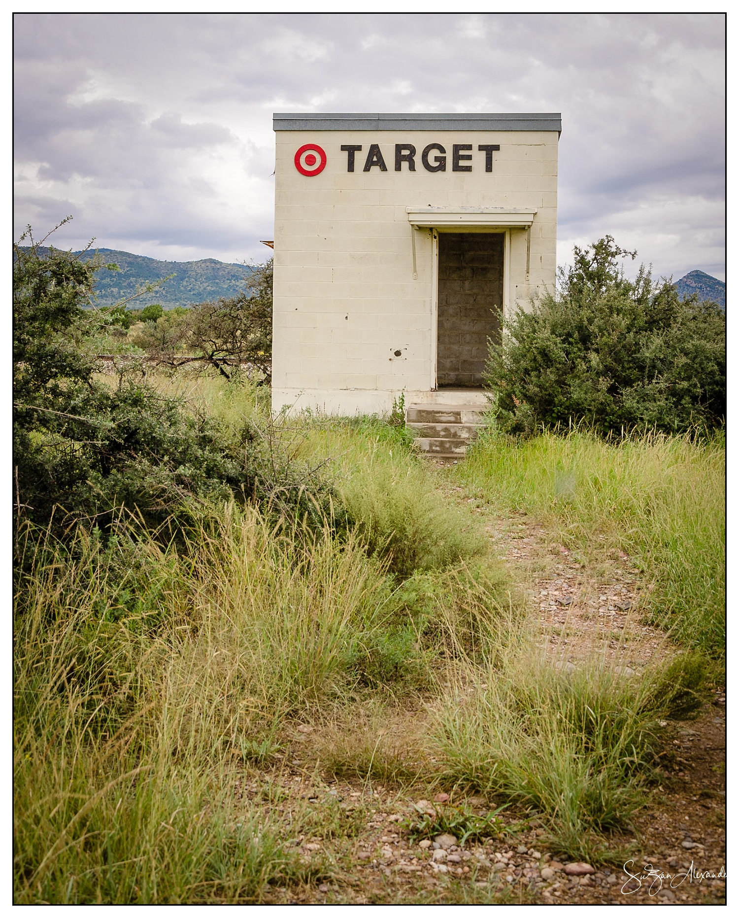 Texas Big Bend Area Target by the Railroad Tracks, Digital Photography, © 2016 SuZan Alexander