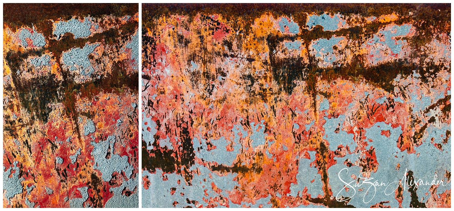 © 2018 SuZan Alexander.   Cruciform Abstraction Collage - Wells of Renewal and Decay   series. Digital Photography